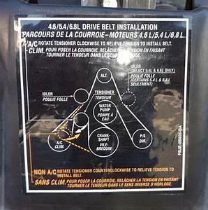 Ford V10 Serpentine Belt Diagram