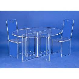 Chaises Plexiglass Fly by Table Rabattable Cuisine Paris Tables Basses Plexiglass