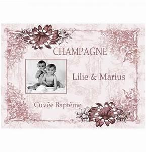 Etiquette Champagne Mariage : superbe tiquette pour bouteille de vin ou de champage pas cher facile coller ~ Teatrodelosmanantiales.com Idées de Décoration