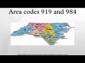 Area codes 919 and 984 - YouTube