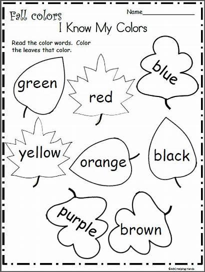 Colors Fall Worksheet Kindergarten Know Math Worksheets