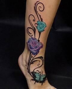 Schmetterling Am Kinderbett : 3d elegante farbige rosen mit schmetterling tattoo am ~ Lizthompson.info Haus und Dekorationen