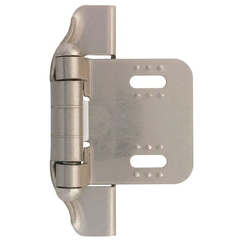 kitchen cabinet hinges home depot liberty 1 4 in satin nickel semi wrap overlay hinge 1