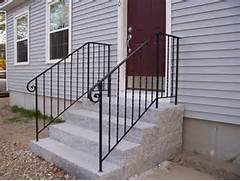 Outdoor Metal Handrails For Stairs by Stairs Outstanding Outside Handrails Wrought Iron Handrails For Outdoor Ste