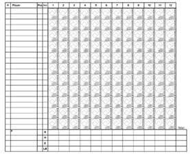 Bowling Spreadsheet Gallery For Gt Baseball Sheet With 12 Players