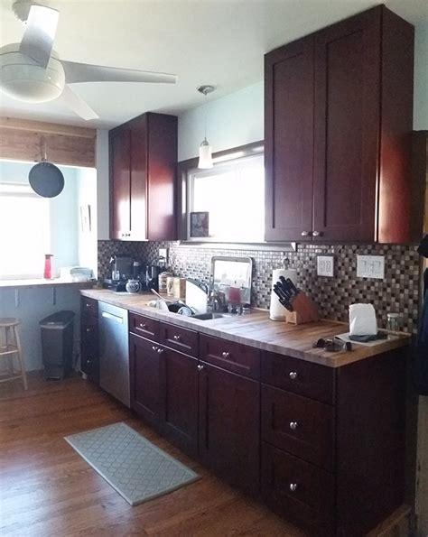 kitchen cabinet reviews amp testimonials 579 mocha shaker 47