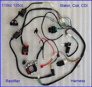 50 70 90 110 125cc Cdi Wire Harness Stator Assembly Wiring Set Atv Electric Quad