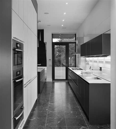 modern galley kitchen ideas exquisite two tone white and grey kitchens decors for