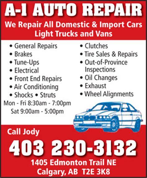 auto repair  edmonton trail ne calgary ab
