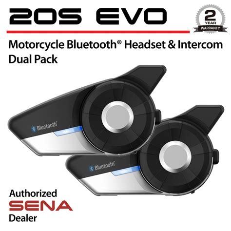 20s dual pack 20s evo 01d motorcycle helmet bluetooth headset intercom dual pack