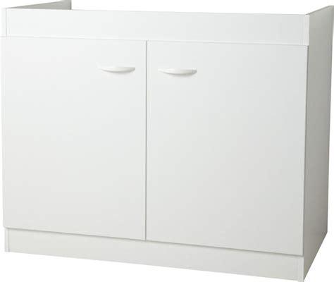 meuble sous 233 vier bas 100 2 portes bricoman