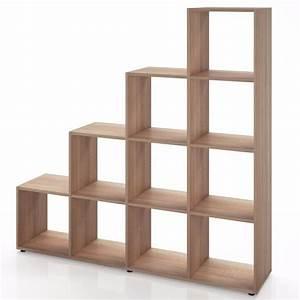 Separateur De Piece Bois : meuble tag re s parateur de pi ce ch ne ciel et terre ~ Teatrodelosmanantiales.com Idées de Décoration
