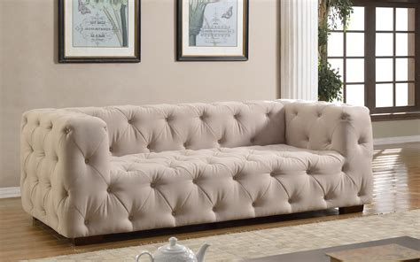 Beige Tufted Sofa Humphery Beige Tufted Sofa And Love Seat