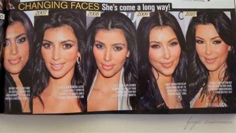 THE MANY FACES OF KIM KARDASHIAN   Kardashian plastic ...