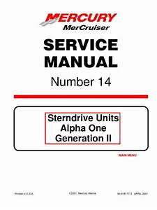Mercruiser Service Manual 14 A