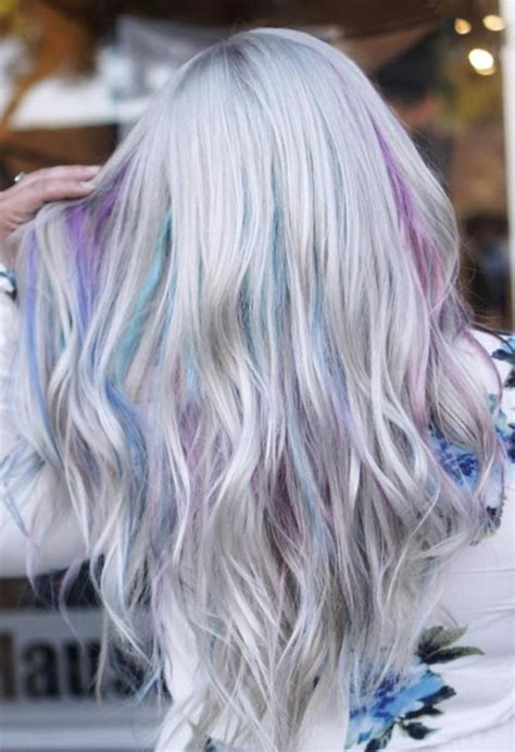mother  pearl hair trend  iridescent pearl hair