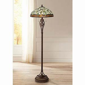 Leaf and vine ii tiffany style floor lamp 8j045 lamps for Tiffany inspired floor lamp