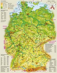 Deutschland Physische Karte : physische 2bkarte 2bvon 2bdeutschland karte deutschland arbeitsblatt europakarte mit ~ Watch28wear.com Haus und Dekorationen