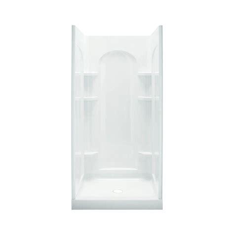 lowe kitchen faucets sterling ensemble 36 in x 34 in x 75 3 4 in shower kit