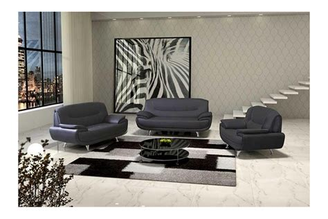 achat canape cuir canapé design 3 2 bregga noir blanc noir gris blanc