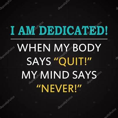 Quotes Dedicated Success Inscription Motivational Template