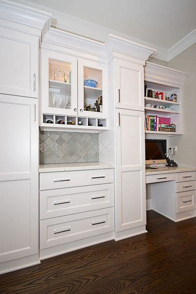 butlers pantry  desk area amish kitchen cabinets