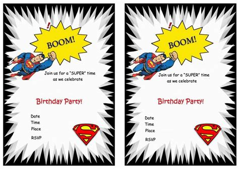 superman birthday invitations  images birthday