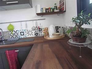 Cuisine Carreau De Ciment : credence carreaux ciment recherche google kitchen ~ Melissatoandfro.com Idées de Décoration