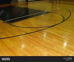 wood floor on indoor basketball image photo bigstock With what are basketball floors made of