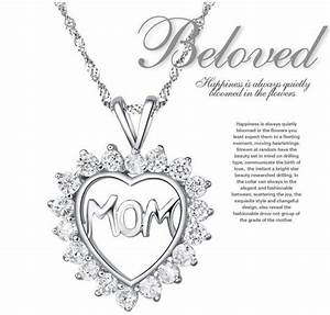 Mother Daughter Cz Diamond Heart Puzzle Mom Letter Words ...