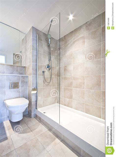 modern en suite bathroom  large shower royalty