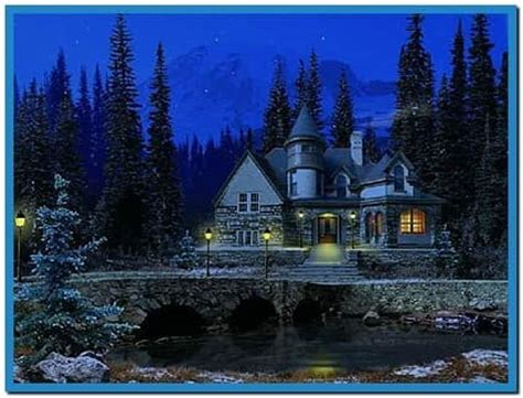 3d Snowy Cottage Animated Wallpaper Windows 7 - snowy cottage screensaver architecture modern idea