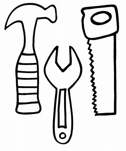 Coloring Tool Pages Construction Tools Clipart Printable