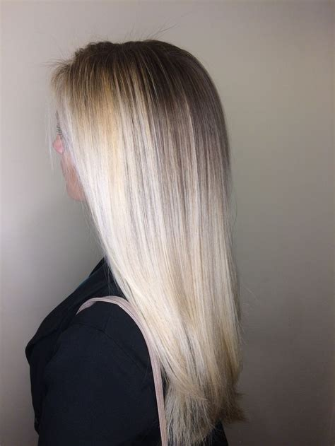 icy blonde platinum blonde ombre balayage long