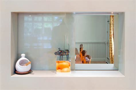 serving hatch kitchen mediterranean with best interior