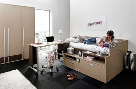 lit et bureau ado lit ado avec rangements et bureau gautier dimix