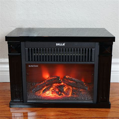 small electric fireplace heater tabletop infrared space heater effect portable mini