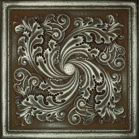 Tin Ceiling Tiles 12x12 by Daltile Metal Signatures Artesia Mural 12 Quot X 12