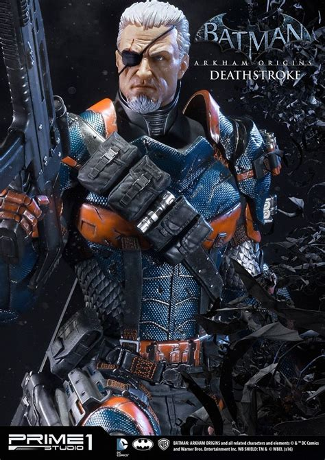 batman arkham origins deathstroke se paye une figurine