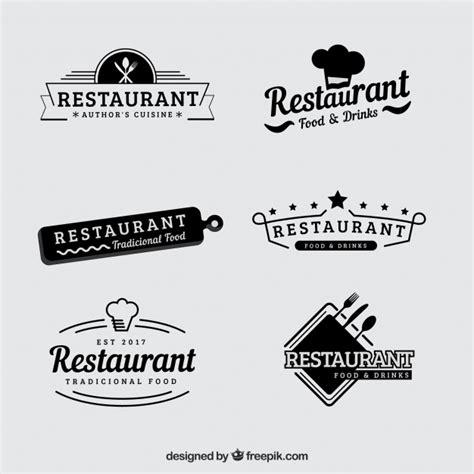 Gourmet Kitchen Ideas - vintage set of retro restaurant logos vector free download