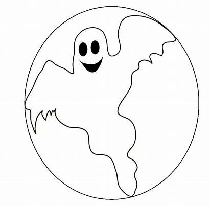 Ghost Pages Coloring Halloween Casper Carving Printable