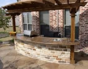 prefabricated outdoor kitchen islands outdoor grill bar area with concrete counter top