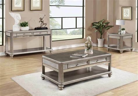 Lighted End Tables Living Room Furniture by Living Room Coffee End Side Sofa Console Table Mirrored