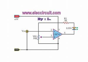 U0026gt  Circuits  U0026gt  Battery Voltage Monitor Circuit By Lm339