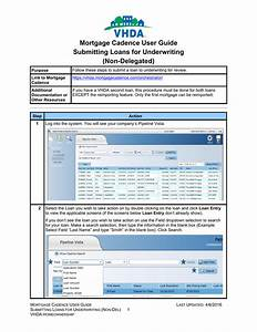 Mortgage Cadence User Guide Submitting Loans For Underwriting