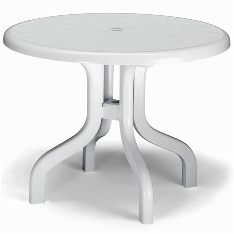 small plastic outdoor table foldable round garden table outdoor furniture white