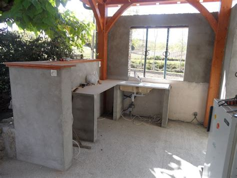 plan cuisine d été evier et plan de travail photo de la terrasse et la