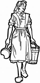 Milking Maid Maids Decals Coloring Vinyl Stool Line Farming Crops Agriculture Farmer Bucket Carrying Eight Pages Sketch Beevault Signspecialist Customize sketch template