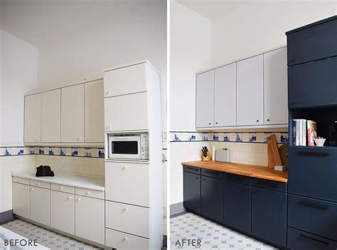 How To Paint Laminate Kitchen Cabinets + Tips For A
