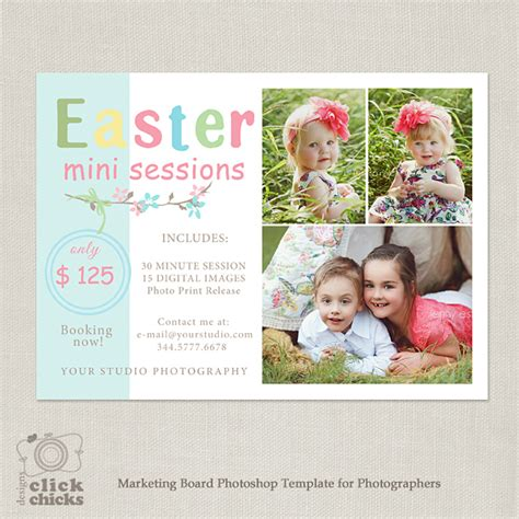 mini session templates easter mini session marketing template for photographers 050